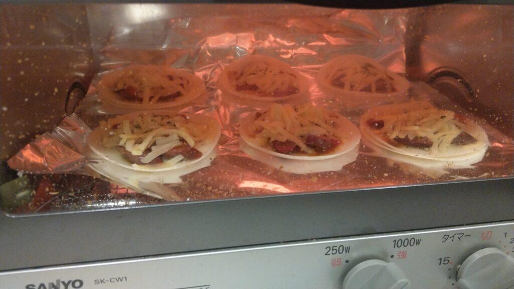 餃子の皮で作るミニピザレシピ④