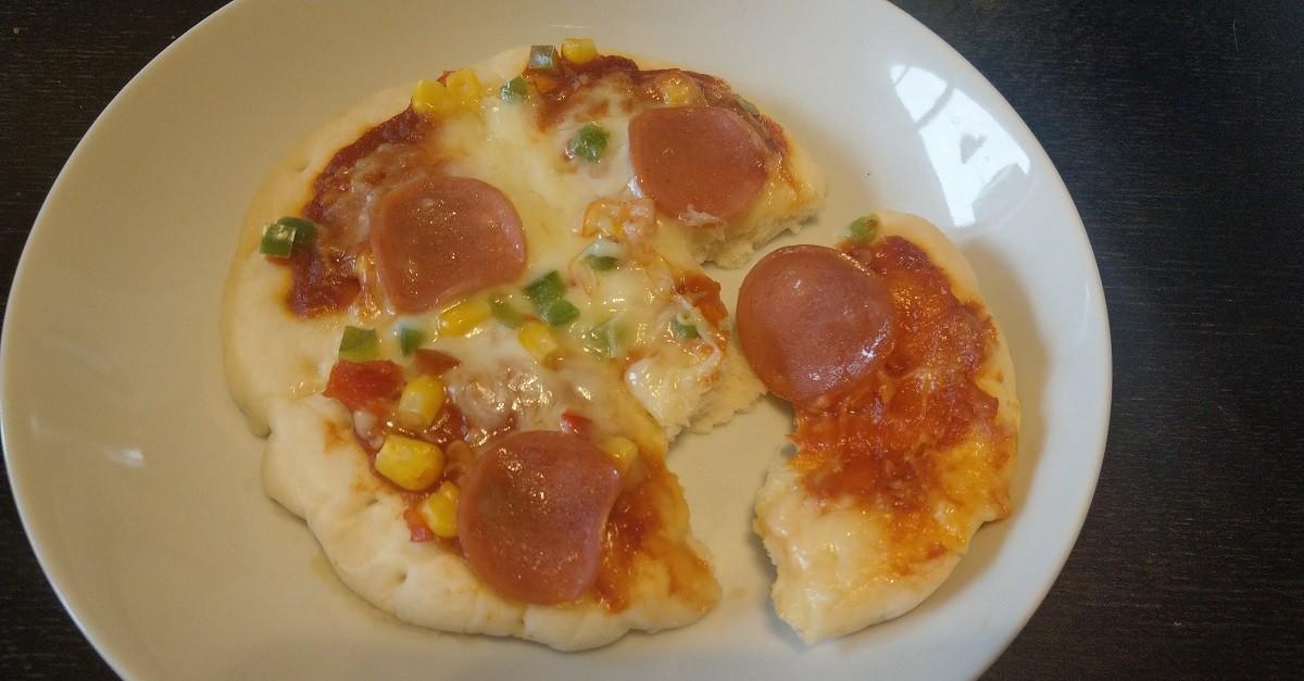 マルハニチロの冷凍ピザを電子レンジで温める途中で千切れる