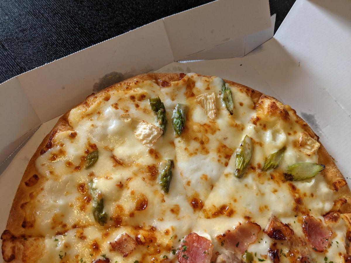 ドミノの北海道3チーズ③